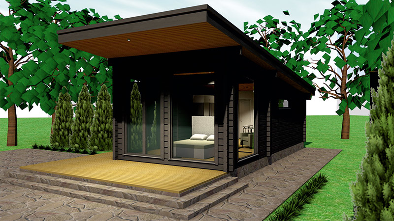 drvena kuća honka visio