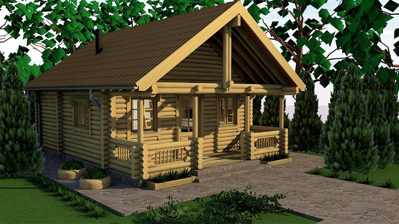 Drvena kuća Aamutahti 50