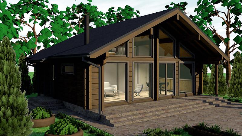 drvena kuća sirius 80