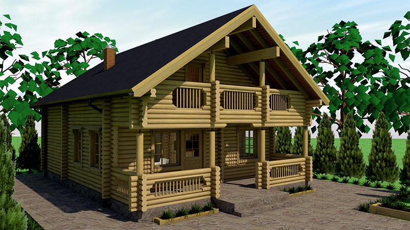 drvena kuća aamutahti
